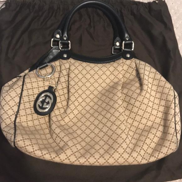 e07e065bab6488 Gucci Bags | Sukey Tote Diamante Canvas Medium | Poshmark